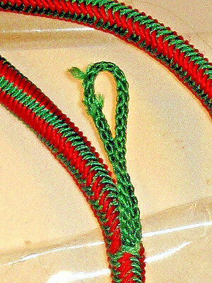 US Army FRENCH FOURRAGERE Green /& Red w// polished tip dress cord award