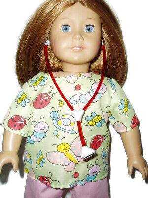 "Scrubs fits American Girl 18/"" Doll Clothes  Dentist Print Scrubs"