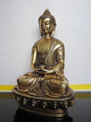 Aparimita Tibet Buddhis Amitabha bronze buddha dragon brass statue mantra