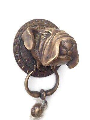 large heavy Bull dog frount Door Knocker SOLID  BRASS old style house banger B 3