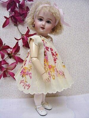 """Hanky Dress, Hat  PATTERN for 10"""" to 16"""" Dolls  Little Darling,  Bleuette, 4"""