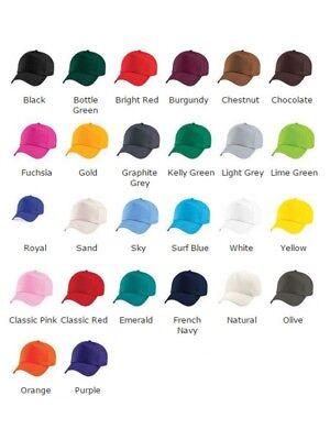 Personalised baseball caps Customised Adults unisex Printed Caps Hats Text/Logo 8