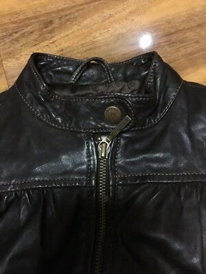 Gap Girls Real Leather Jacket Aged 4-7 Years Old 2