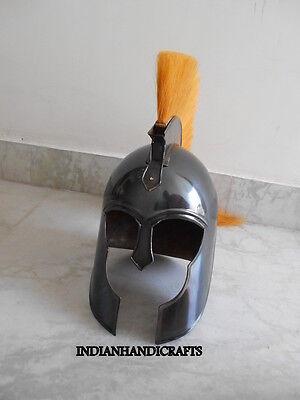 Greek Corinthian Troy Helmet  Collectible Spartan Black Antique Finish 2