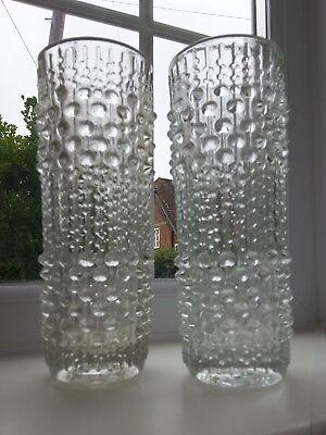 Frantisek Peceny Retro Art Glass Vintage Sklo Union Candle Wax Glass Vase Bohemian/czech Glass
