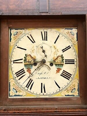 8 Day Grand Father Clock By The Maker Hugh Roberts Of Llangefni 5