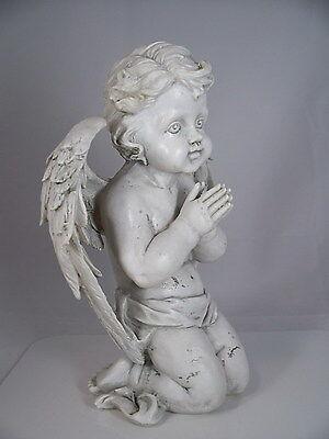 Polyresin ENGEL KNIEND H 26 cm neu. Grabschmuck Grabengel Gartendeko Gartenfigur