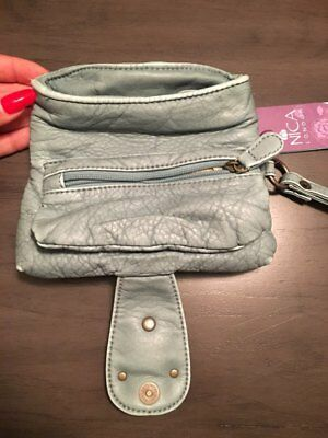 NWT Nica London Sea Breeze Rowan Studded Fish Wristlet Clutch Bag Distressed 5