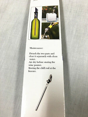 Stainless Steel Chill Stick with Pour Spout, Wine Cooler, In-bottle Chiller -New 8