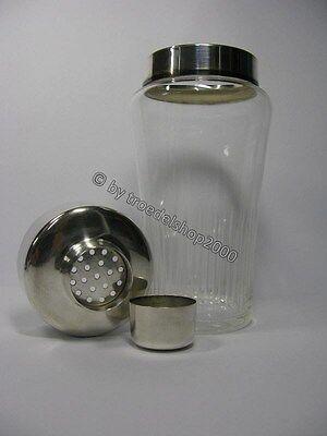 e4) alter Rosenthal Cocktailshaker Shaker Kristall Glas versilbert Rarität 1960 6