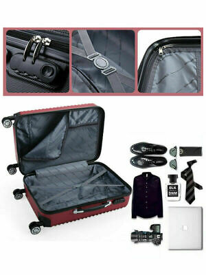 3 Piece Luggage Set Hardside ABS+PC Carry On Bag Travel Trolley Suitcase Spinner 7