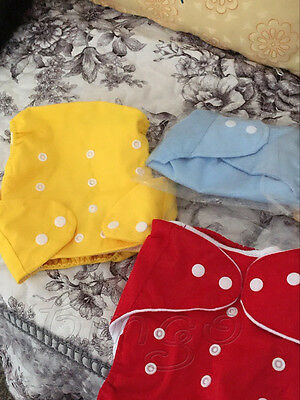 5 Pack Diapers Inserts Adjustable Reusable Baby Washable Cloth Pocket Nappies US 10