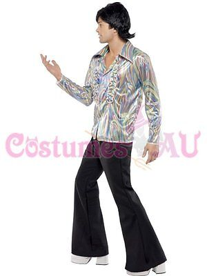 2 of 5 Mens 1960s 70s Hippie Costume Disco Dancer Man Adult 60s Hippy Retro Fancy Dress  sc 1 st  PicClick UK & MENS 1960S 70S Hippie Costume Disco Dancer Man Adult 60s Hippy Retro ...