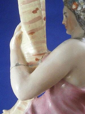 Rare 18thC Doccia Porcelain Lady Candle Stick Porzellan Candleholder Italy 10
