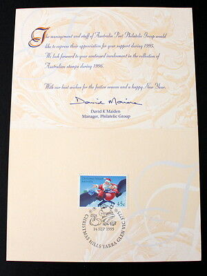 Season's Greetings 1995 Souvenir Card from Australia Post -Stamps & Philately