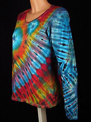 Hippie Tie dye Batik Psy Goa NEU DAMEN T Shirt Gr S 5XL