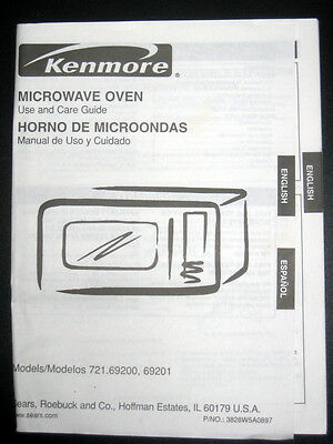 Kenmore Quicktouch Microwave Oven Model No 721 69200890 With Manual 3