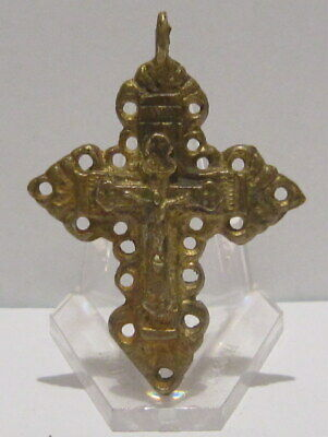 Outstanding Post Medieval Silver Cross Pendant, Gold Plated, Crucifixion # 776 7