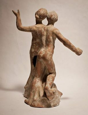 Tanagran Apollo and Daphne Terracotta figure 5