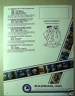 HANNA-BARBERA Filmstrip Set Scooby Doo Gang Acne Skin Deep NEW