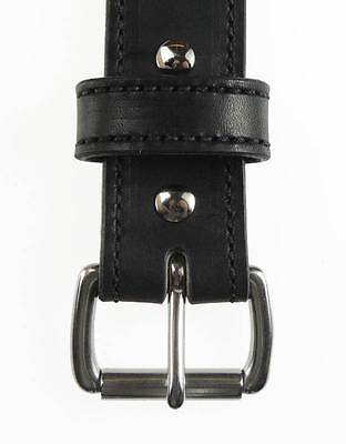 """50SS-ST_1 1/4"""" Wide_STITCHED_LEATHER DRESS_CASUAL BELT_AMISH HANDMADE_NEW 3"""