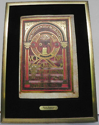 Faksimile aus dem Harley EVANGELIAR, Aachen, ca. 8. Jahrhundert
