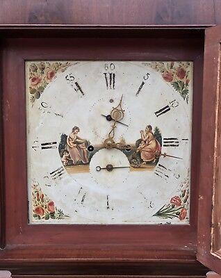 Antique 8 Day Mahogany Longcase Grandfather Clock J. BEECROFT LITTLE LEIGH 6