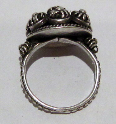 Amazing Post-Medieval Silver Ring With Beautiful Filigree  # 395 6