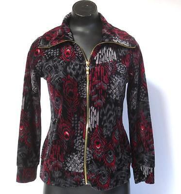 Style /& Co Sport Petite 3//4 Sleeve Snap Front Knit Jacket Black PL Large #2436
