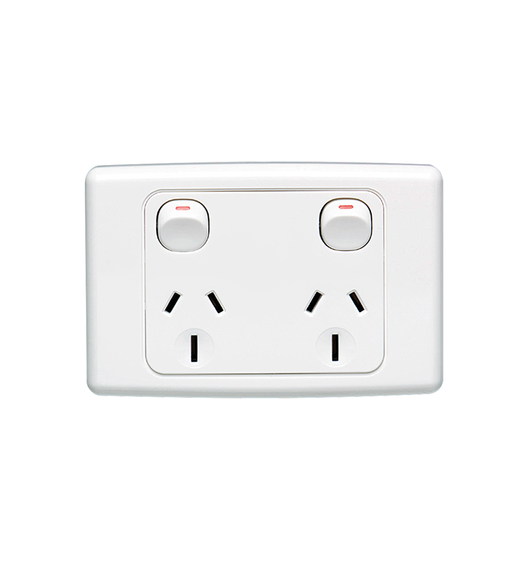 10 X A Amp 240V Double Power Point Wall Socket outlet GPO light switch Plate USB