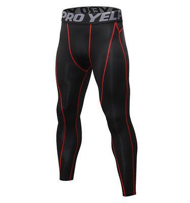 cfbe498b8497b3 ... Mens Compression Tights Athletic Base Layers Spandex Sports Long Pants  Quick-dry 9