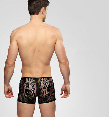 Boxer Dentelles Transparent Sexy Homme Thong Man Underwear Uomo Lenceria 2