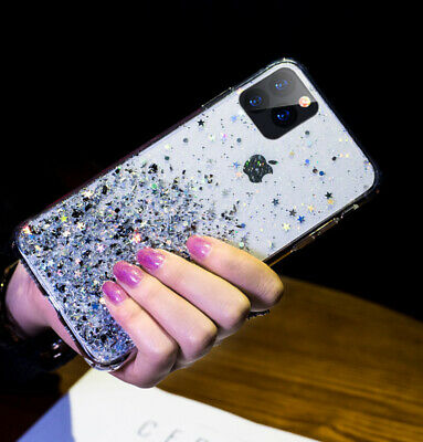 For iPhone 11 Pro XS Max XR X 8 7 Plus Glitter Shockproof Protective Case Cover 7