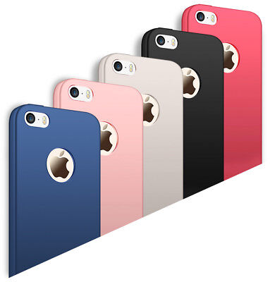 cheap for discount 8f529 27d61 FOR APPLE IPHONE 5 5s SE Ultra Slim Shockproof Soft Rubber Case Matte Back  Cover