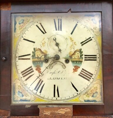 8 Day Grand Father Clock By The Maker Hugh Roberts Of Llangefni 4
