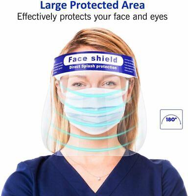 Face Shield Cover Anti-Fog Full Safety Reusable Visor Eye Head Protector 4 Pack 5