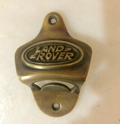 LAND ROVER car wall Bottle Opener solid pure brass works screw heavy B 8