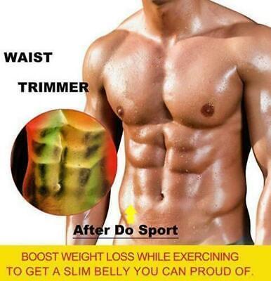 Men Abdomen Fat Burner Tummy Control Body Shaper Waist Trainer Sauna Sweat Belt 5