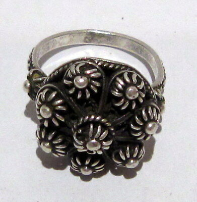 Amazing Post-Medieval Silver Ring With Beautiful Filigree  # 395 7