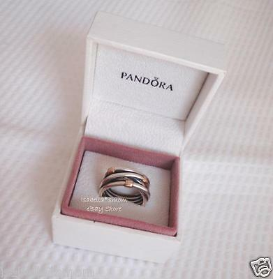 9a590e13c ... SILVER ROPE Authentic PANDORA Sterling Silver/14K GOLD Wrap RING Sz  6/52 NEW