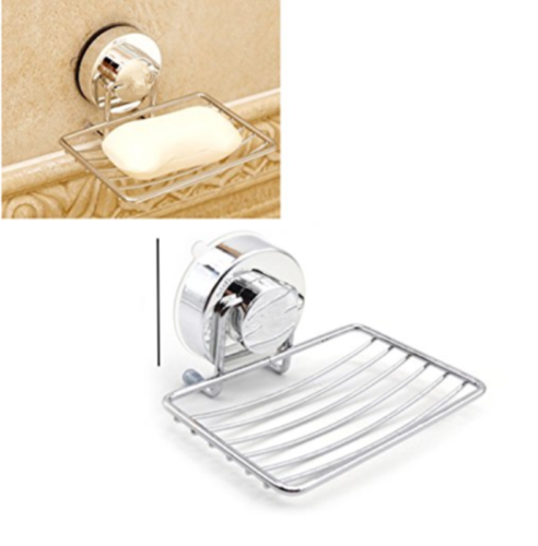 GT CO/_ Strong Suction Cup Stainless Steel Bathroom Shower Soap Holder Dish Rack