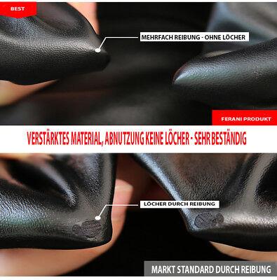Winter Thermo Matt Leder Optik Leggings High Waist blickdicht Hose warm S M L 3