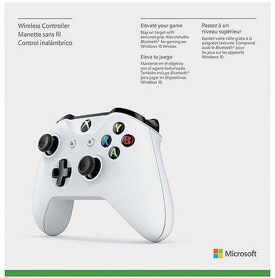 Genuine Microsoft Xbox One S White Wireless Bluetooth Controller TF5-00001 - VG