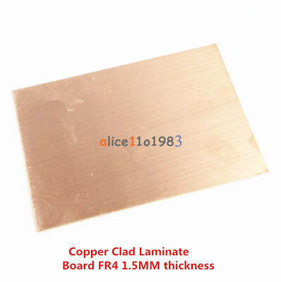 1//5PCS 10*15CM FR4 1.5MM Thickness Double PCB Copper Clad Laminate Board EKE