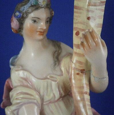 Rare 18thC Doccia Porcelain Lady Candle Stick Porzellan Candleholder Italy 2