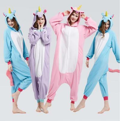 Adulte Kigurumi Pyjama Licorne cosplay combinaison animaux Unicorn Onesie party 4