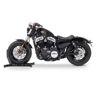 Black Paddock Front Wheel Chock Transport Motorbike Rocker Universal FXDB ConStands Easy Plus-Motorcycle Stand Harley Davidson Dyna Street Bob