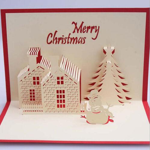 pop up weihnachtskarten geburtstag gl ckwunschkarte 3d gru karten christmas xmas eur 1 19. Black Bedroom Furniture Sets. Home Design Ideas