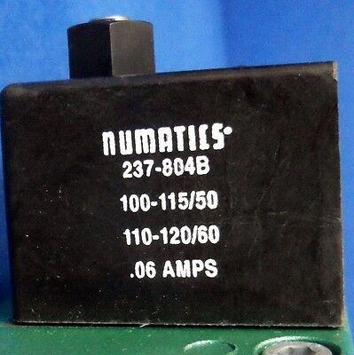 Numatics 150Psig-Air, 100-115/110-120V, 0.06A Solenoid Valve I34Ba400K *new* 4
