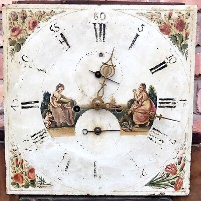 Antique 8 Day Mahogany Longcase Grandfather Clock J. BEECROFT LITTLE LEIGH 8